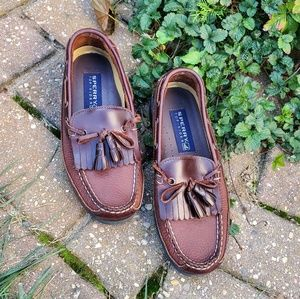 Sperry mens dress shoes brown size 7.5